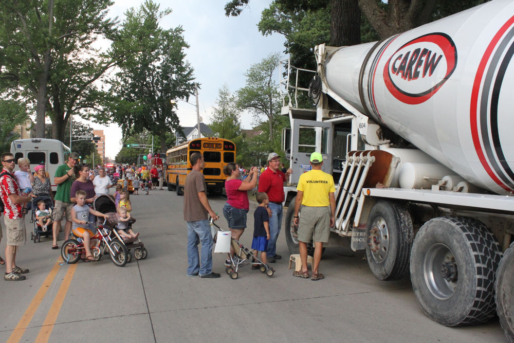 Photo of Carew Concrete at the Children's Parade in Appleton Wisconsin 2012