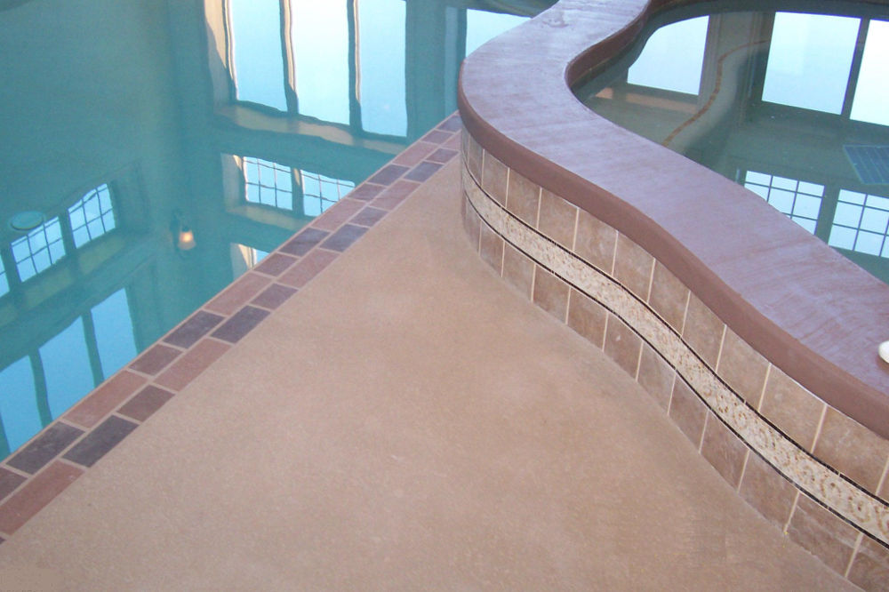 Indoor concrete pool photo #2