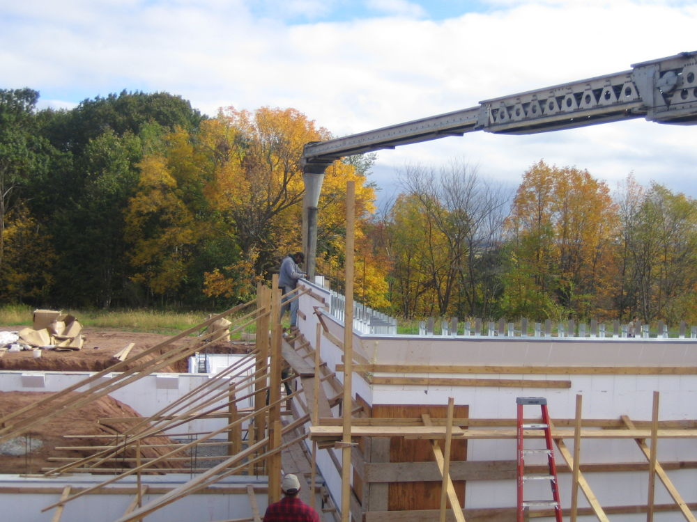 House Foundation Walls Being Poured