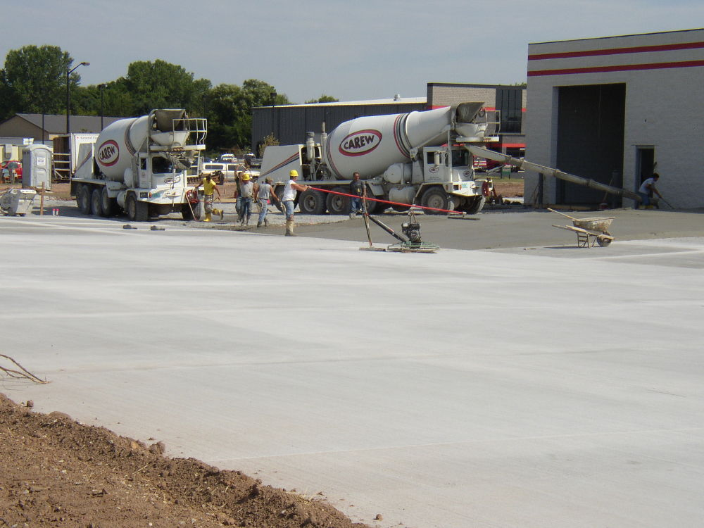 Large Parking Lot Paving