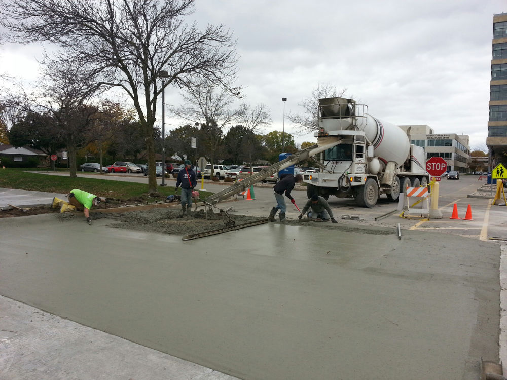 Repairing a parking lot at Appleton Medical Center